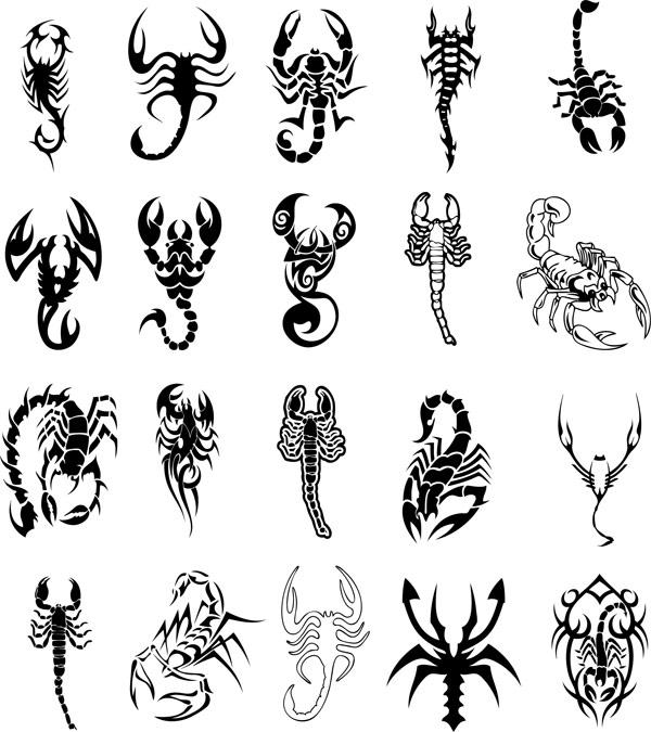 Material de vectores de tótem de escorpión