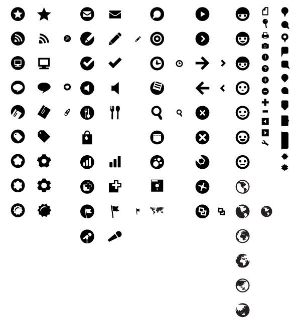 Material de vetor de ícone pequeno Web Design prático