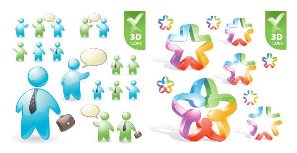 Funções de usuário e material de vetor 3D ícone Pentáculo