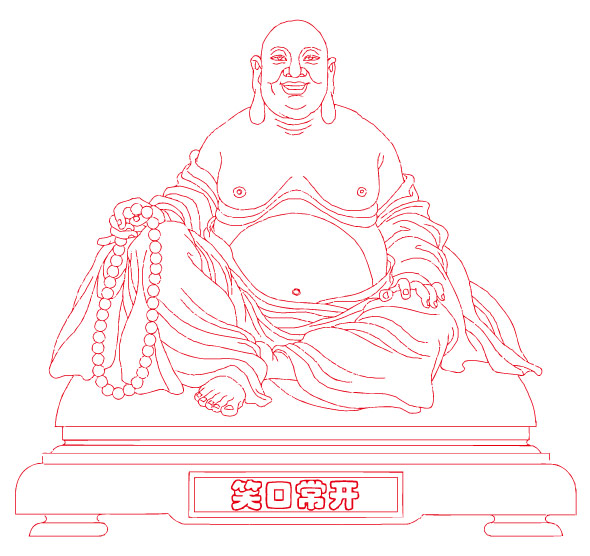 Laughing Buddha Vector de material