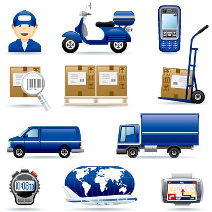 Icône de vecteur sur livraison express