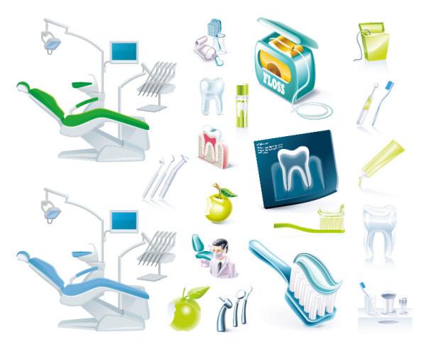 Icône de vecteur sur chirurgien dentiste