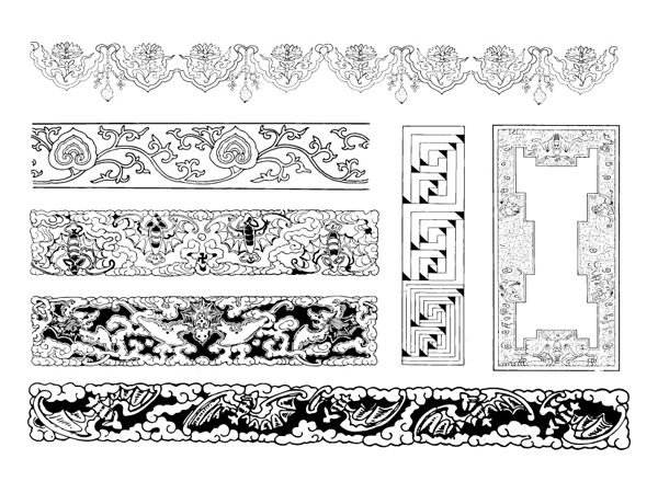 Материал 17 Китайская классическая вектор