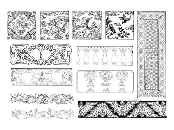 中国の古典的なベクター素材 25 の