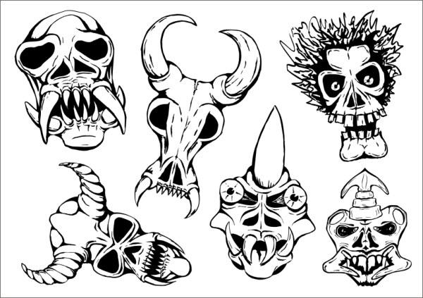 Вектор жертвенных маски