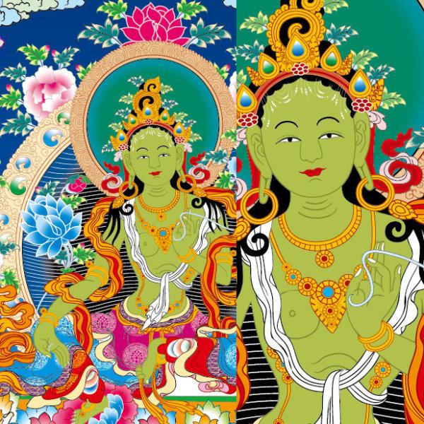 Organismos Thangka Ai do direito, Vajradhara vector (pedágio estações não alterar)