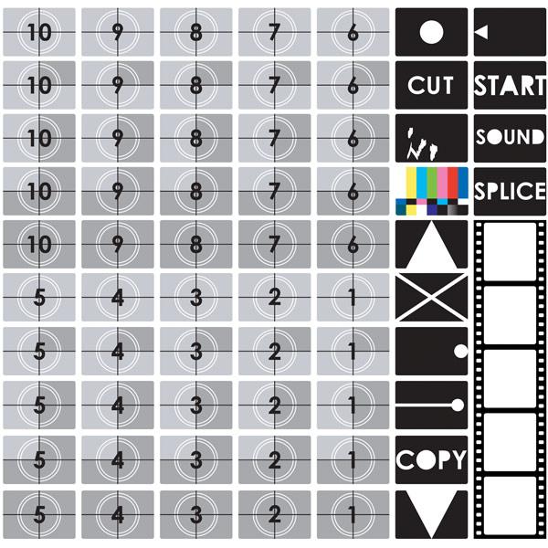 TV テスト画面のベクター素材