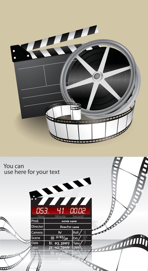 ภาพยนตร์ชุดรูปแบบเวกเตอร์วัสดุ