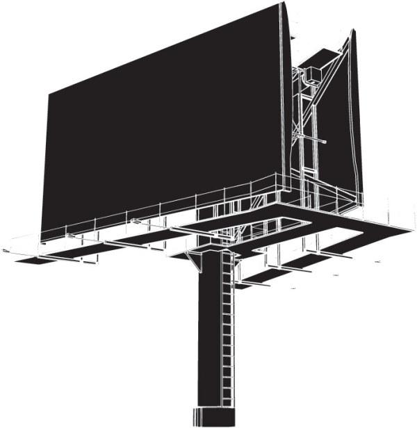 Material de vetor de espaço ao ar livre billboard