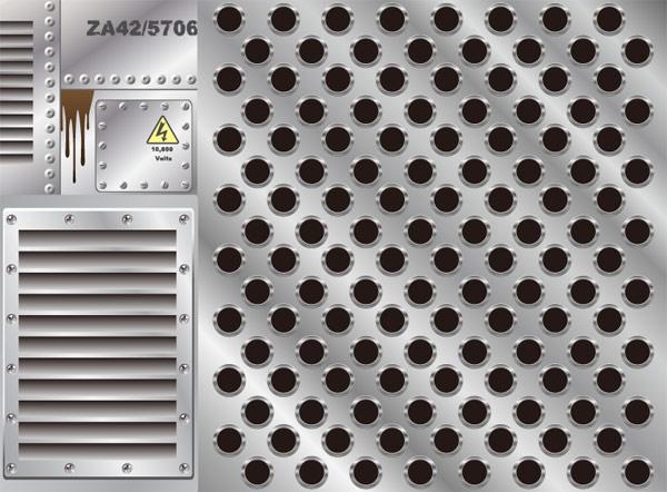 Металлическая пластина серии векторного материала