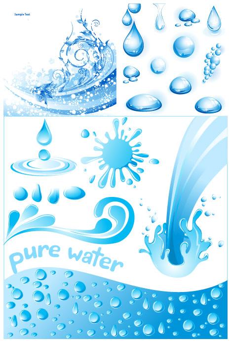 agua fría 3 tema vector de material