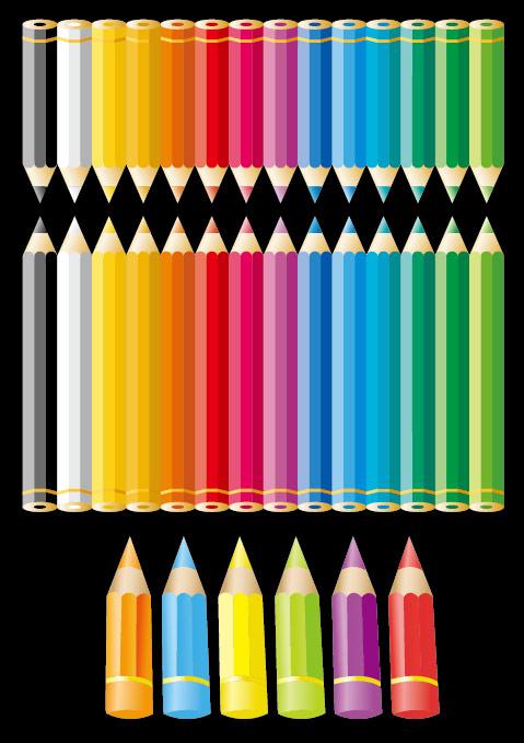 ดินสอสีวัสดุเวกเตอร์