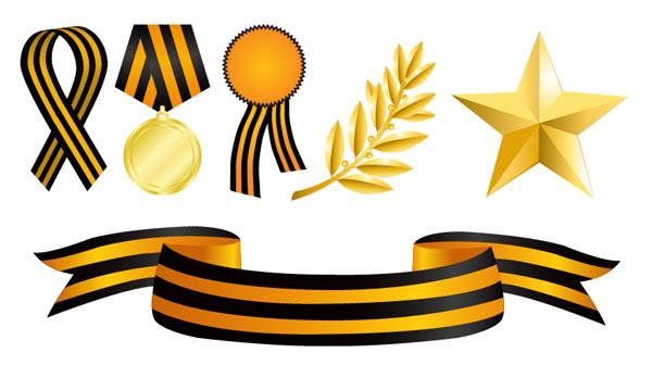 Médailles élément vectoriel matériel