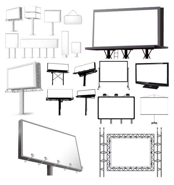 Разнообразие видов наружных billboard шаблон векторного материала