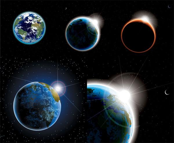 Matériel d'espace vectoriel planète