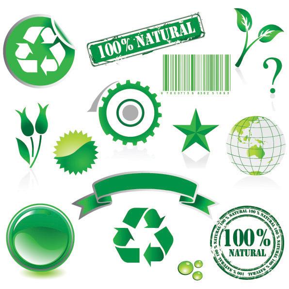 Tema ambiental elemento vector de material