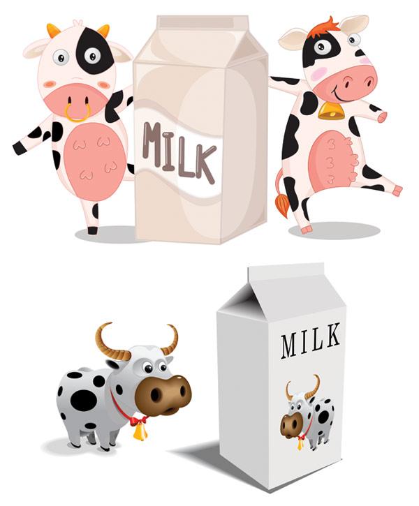 Palabras clave de leche leche cartones animados lindo vaca leche ...