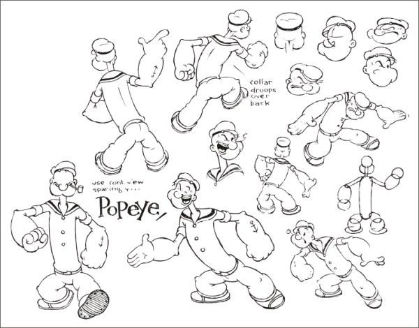Popeye fonctionnaire mis en place un vecteur (2)