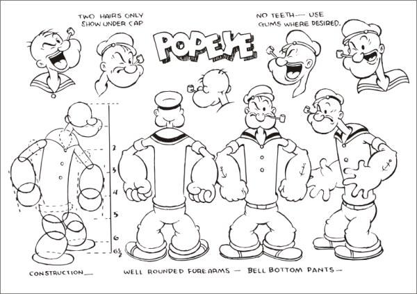 Funcionario de Popeye que configurar vector (1)
