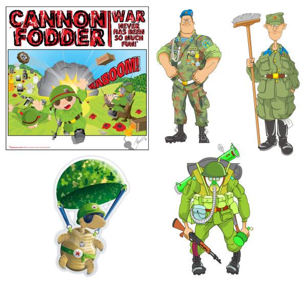 Мультфильм солдат вектор