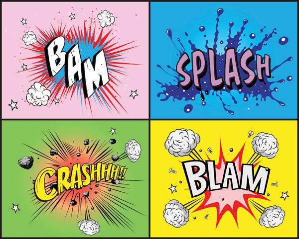 Material de vectores de elemento de estilo comic
