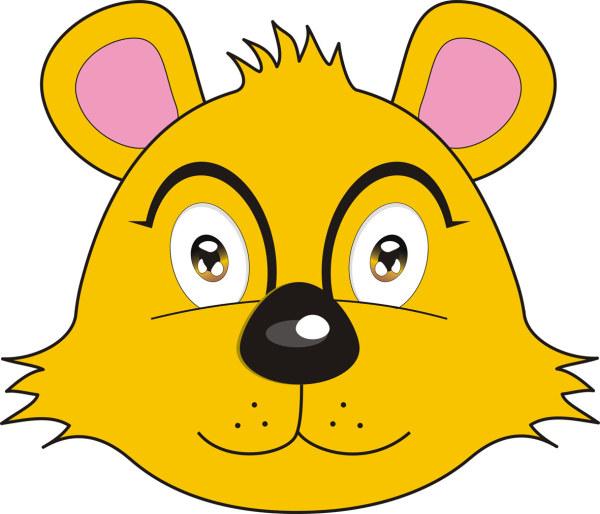 Etiquetas osos caricatura fox lindo vector material Free Download