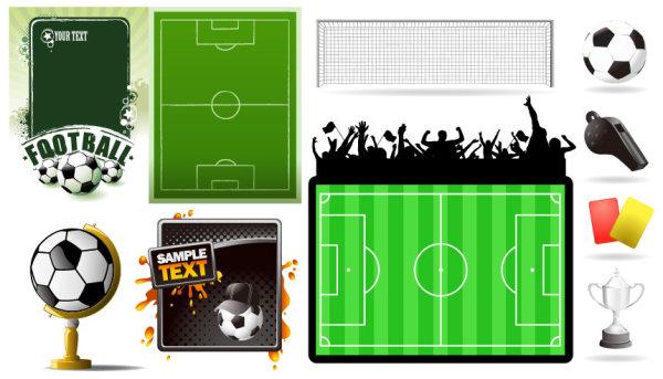Футбольные темы векторные материал