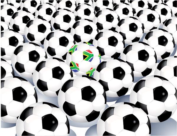 多くのサッカーのベクター素材