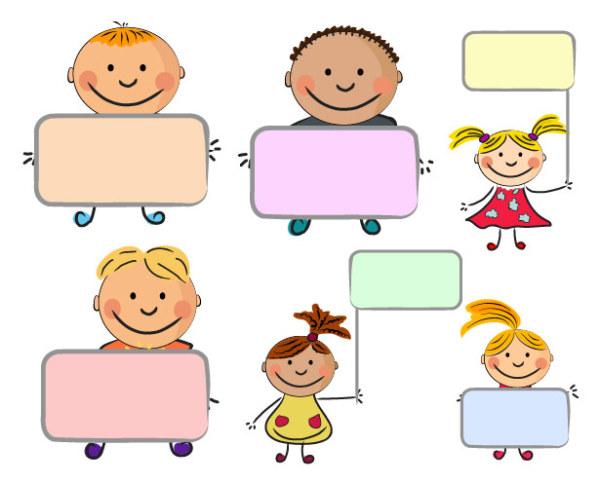 Palabra clave caricatura lindos niños niños chicos y chicas ...