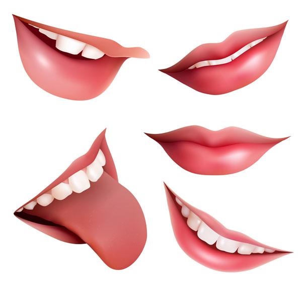 Рот векторного материала