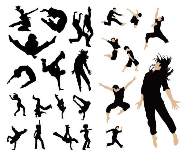 Gente bailando vector de material