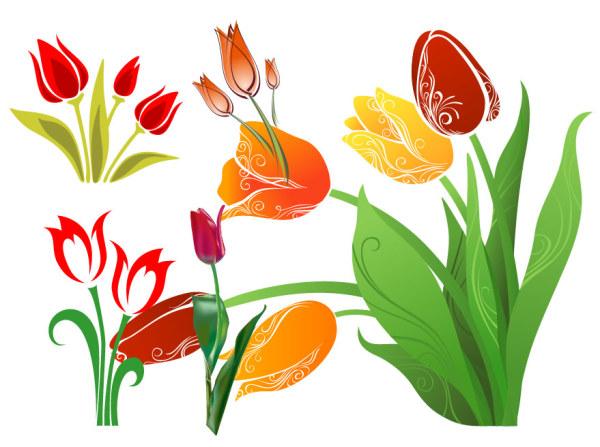 Matériau de vecteur de tulipes