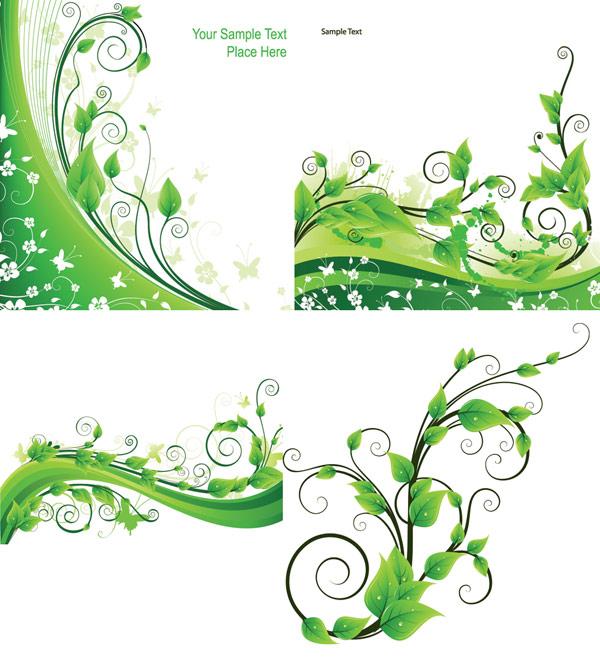 ベクトル緑籐植物素材