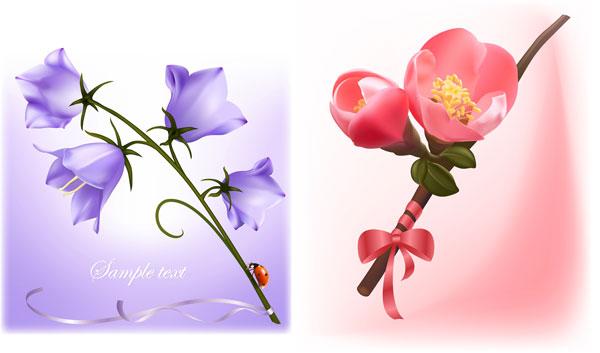 素材の美しい花をベクトルします。