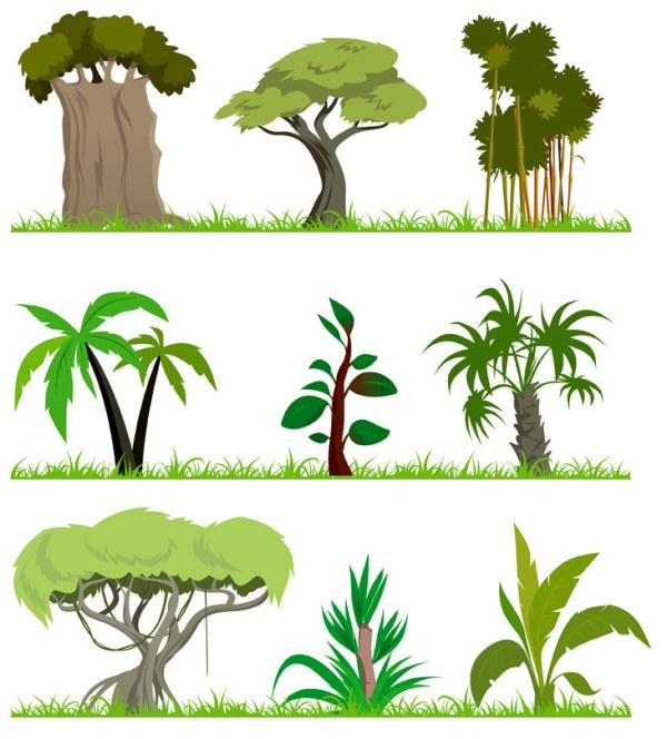 Tema de material de vector de árbol