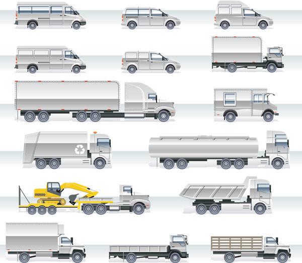 Тяжелый автомобиль вектор материала -2