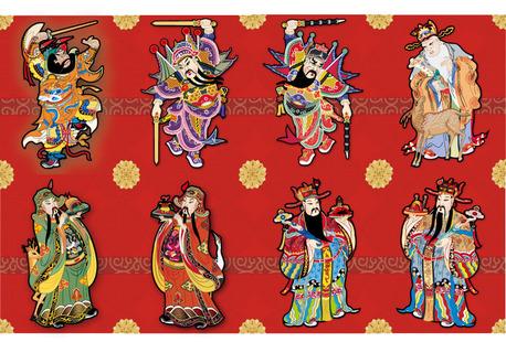 Año nuevo chino buena suerte de vectores
