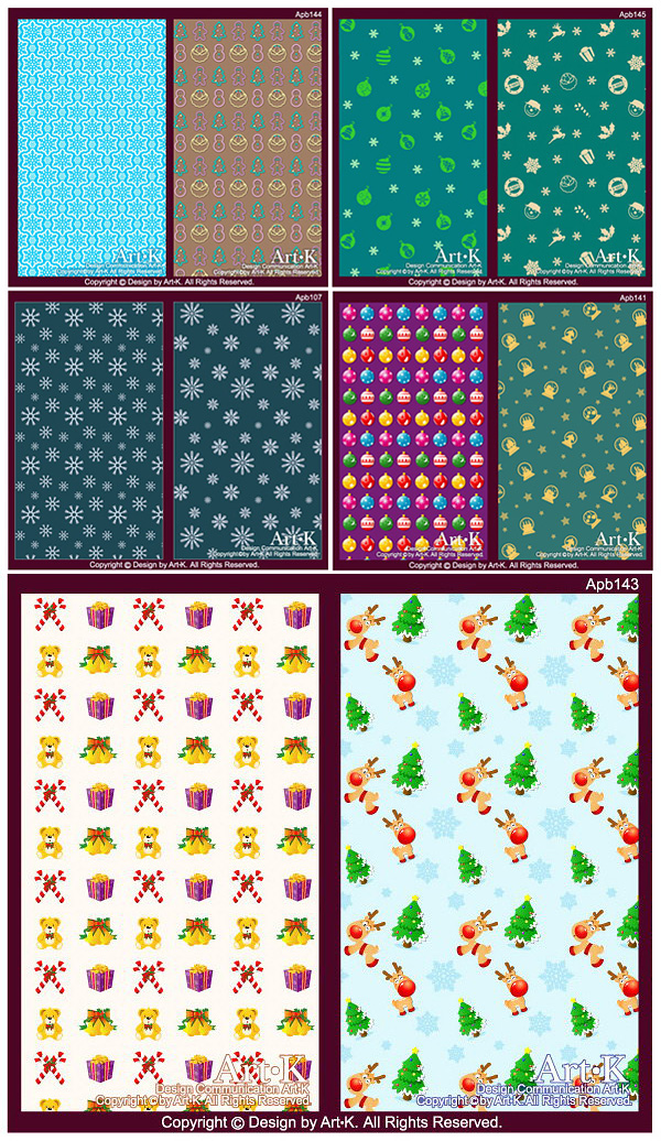10 Cute Vector Christmas elements of the case of the background base maps