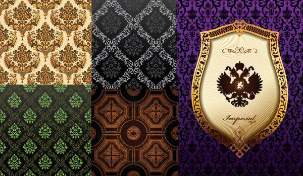 Fondo de material de vectores ornamentada clásico patrón Europeo
