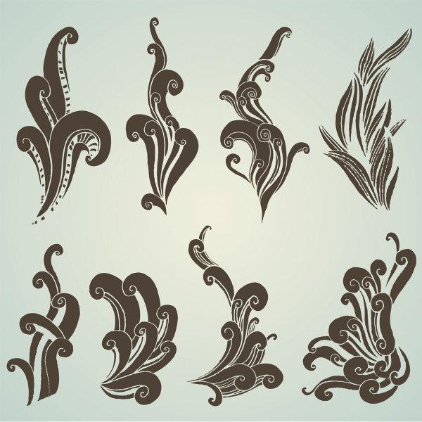 Material de vectores de patrón