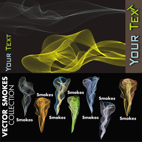 Bunte Linie Rauch Vektor des Materials