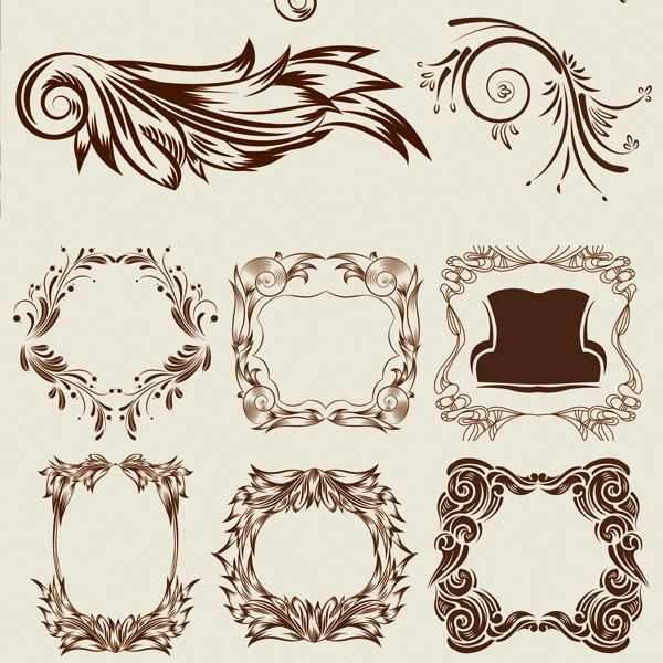 Vecteurs élégant motif décoratif classique