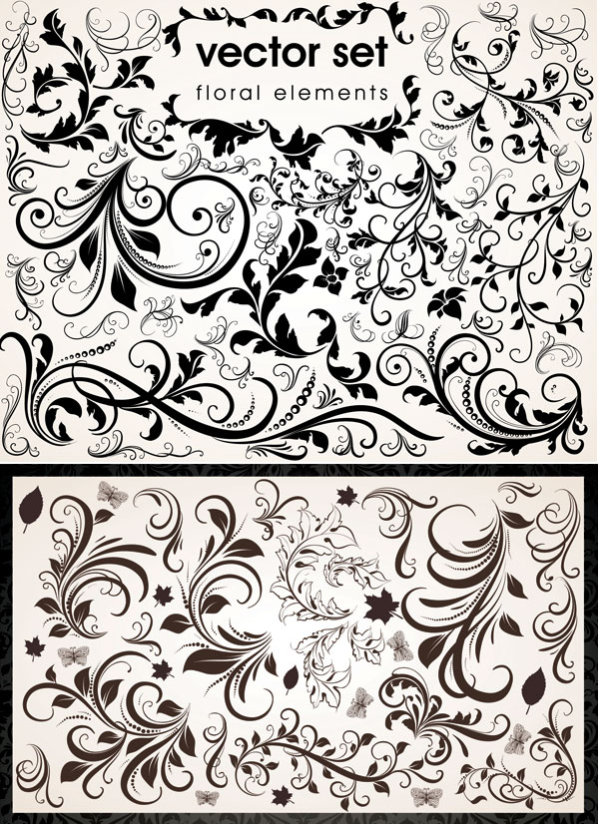 Delicate lace vector of material