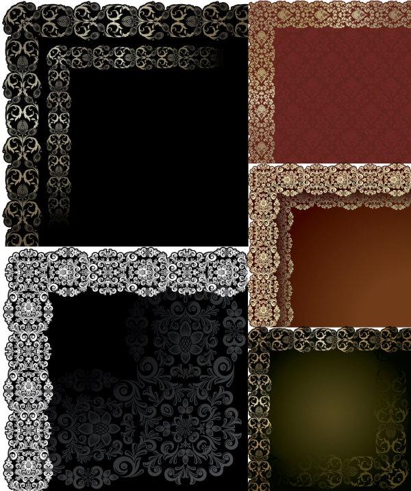 ヨーロッパ型図レース ベクトル材料
