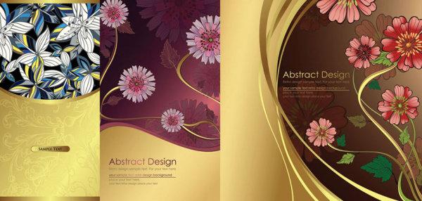 伝統的なパターン背景ベクトル材料