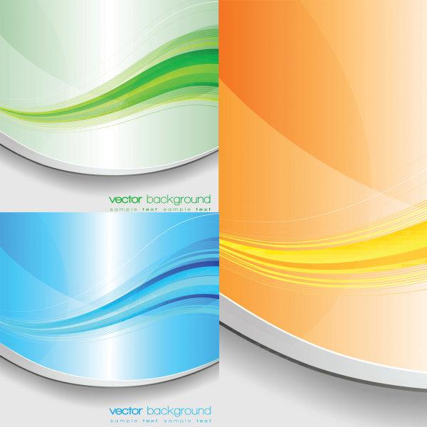 Vetor de faixa de cor elegante de material