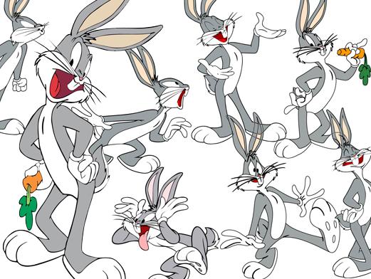 Ошибки Банни Bugs Bunny мультфильм вектор
