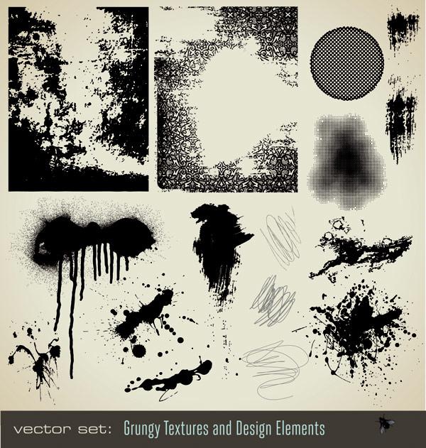 Чернила чернила текстуры векторного материала