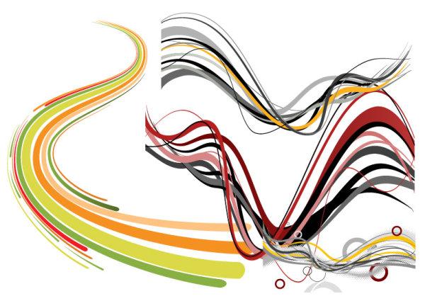Líneas onduladas y curvas de palabra clave dynamic Vector Free ...