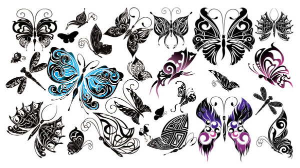 Tótem hermosa mariposa Vector